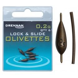 Ciężarki Drennan Polemaster Olivettes Lock and Slide - 0.2g