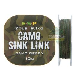 Plecionka przyponowa ESP Camo Sink Link 10m - Green