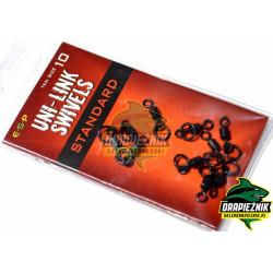 Krętliki z kółkami ESP Uni Link Swivels - Standard - roz. 10