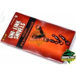 Krętliki z kółkami ESP Uni Link Swivels - Hi-Performance - roz. 9