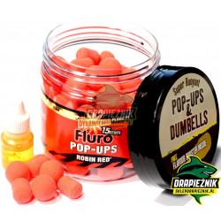 Fluro Pop-Ups & Dumbells 15mm - Robin Red
