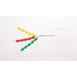 Stopery gumowe kolorowe - M