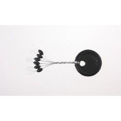 Stopery gumowe czarne - M