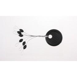 Stopery gumowe czarne - L