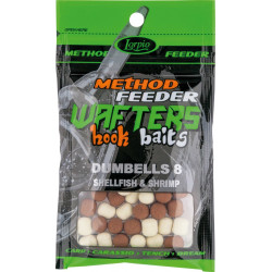 Lorpio Wafters Hook Baits Dumbells 8x10mm - Shellfish & Shrimp
