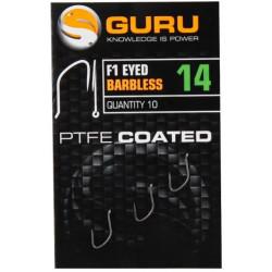 Haczyki Guru F1 Eyed Barbless - roz. 14