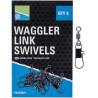 Agrafki z krętlikami Preston Waggler Link Swivels