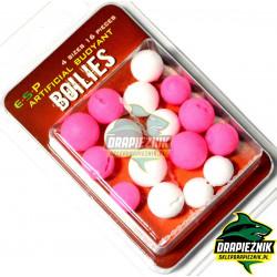 Sztuczne kulki E-S-P Boilies - Białe // Różowe