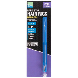 "Preston KKM-B Mag Store Hair Rigs - 4"" / RAPID STOP / roz.14"
