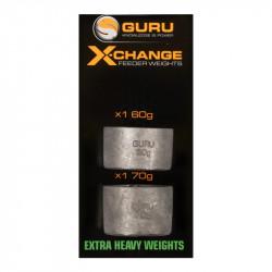 Zapasowe obciążenie Guru X-Change Feeder Weights - Heavy 40+50g