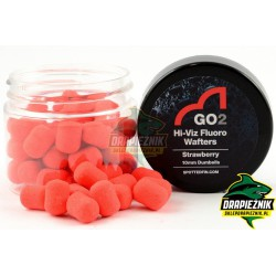 Waftersy Spotted Fin GO2 Hi-Viz Fluoro Wafters 10mm - Strawberry