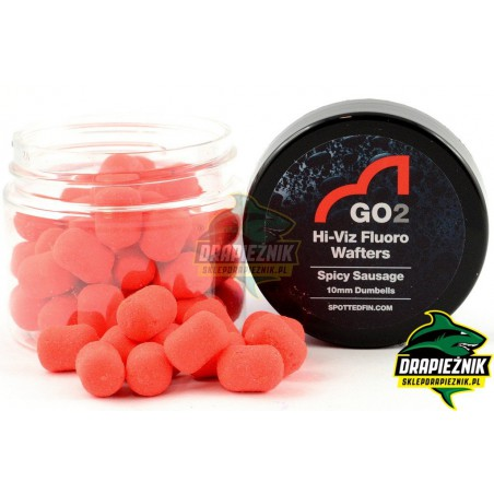 Waftersy Spotted Fin GO2 Hi-Viz Fluoro Wafters 10mm - Spicy Sausage
