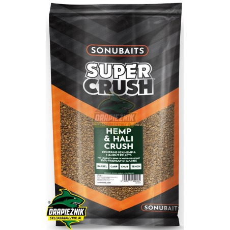 Sonubaits Supercrush - Hemp & Hali Crush