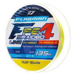 Plecionka Flagman PE Hybrid F4 FLUO YELLOW 135m