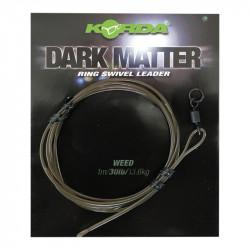 Zestaw Korda Dark Matter Ring Swivel Leader - 1m WEED