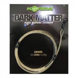 Zestaw Korda Dark Matter Ring Swivel Leader - 50cm GRAVEL