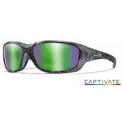Okulary Wiley X Captivate - GRAVITY Polaraized Green Mirror Kryptek