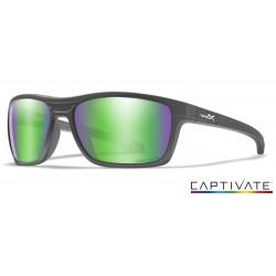 Okulary Wiley X Captivate - KINGPIN Polaraized Green Mirror