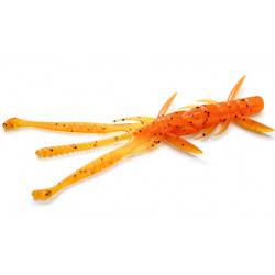 "FishUp Shrimp 3.6"" - 049 Orange Pumpkin/Black"