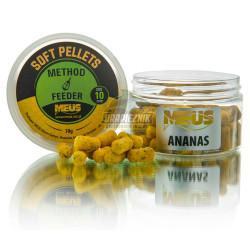 Pellet MEUS Sinking miękki na włos 10mm - Ananas