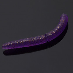 Libra Lures Fatty D'Worm 6.5cm - 020 / PURPLE WITH GLITTER