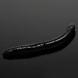 Libra Lures Fatty D'Worm 6.5cm - 040 / BLACK
