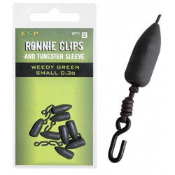 Łączniki ESP Ronnie Clip with Tungsten Sleeve Green - Small 0.3g