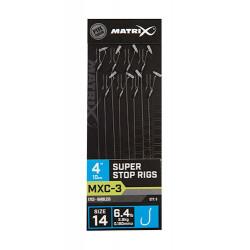 """Przypony Matrix MXC-3 Super Stop Rig 4"""" / 10cm - roz. 14"""