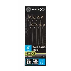 "Przypony Matrix MXC-3 Bait Band Rig 4"" / 10cm - roz. 12"