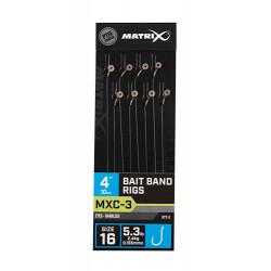 "Przypony Matrix MXC-3 Bait Band Rig 4"" / 10cm - roz. 16"