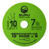 "Przypony Guru Standard Hair Rigs - QM1 - 15""/38cm - roz.10 // 0.19mm"