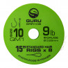 "Przypony Guru Standard Hair Rigs - QM1 - 15""/38cm - roz.10 // 0.22mm"