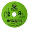 "Przypony Guru Standard Hair Rigs - QM1 - 15""/38cm - roz.12 // 0.22mm"