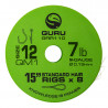 "Przypony Guru Standard Hair Rigs - QM1 - 15""/38cm - roz.12 // 0.19mm"