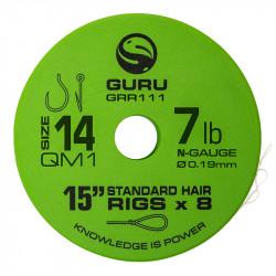 "Przypony Guru Standard Hair Rigs - QM1 - 15""/38cm - roz.14 // 0.19mm"