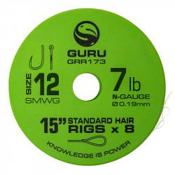 "Przypony Guru Standard Hair Rigs - Super MWG - 15""/38cm - roz.12 // 0.19mm"