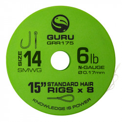 "Przypony Guru Standard Hair Rigs - Super MWG - 15""/38cm - roz.14 // 0.17mm"