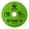 "Przypony Guru Standard Hair Rigs - Super MWG - 15""/38cm - roz.16 // 0.17mm"