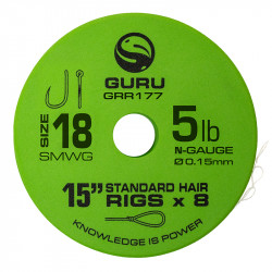 "Przypony Guru Standard Hair Rigs - Super MWG - 15""/38cm - roz.18 // 0.15mm"