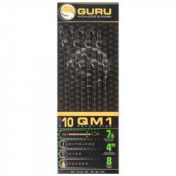 "Przypony Guru Standard Hair Rigs - QM1 - 4""/10cm - roz.10 // 0.19mm"