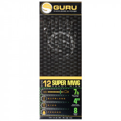"Przypony Guru Standard Hair Rigs - Super MWG - 4""/10cm - roz.12 // 0.19mm"