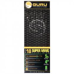 "Przypony Guru Standard Hair Rigs - Super MWG - 4""/10cm - roz.18 // 0.15mm"