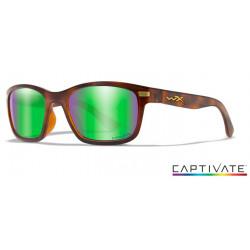Okulary Wiley X Captivate - HELIX Polaraized Green Mirror