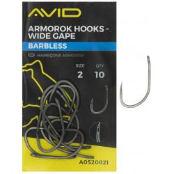 Haczyki AVID Armorok Hooks - WIDE GAPE / BARBLESS