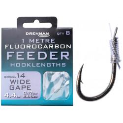 Przypony Drennan Fluorocarbon Feeder 1m - WIDE GAPE - roz.14
