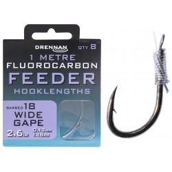 Przypony Drennan Fluorocarbon Feeder 1m - WIDE GAPE - roz.18
