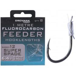 Przypony Drennan Fluorocarbon Feeder 1m - SUPER SPADE - roz.12