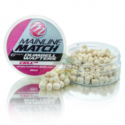 Mainline Match Dumbell Wafters 6mm - White-Cell