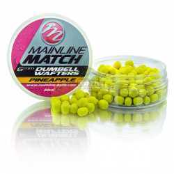 Mainline Match Dumbell Wafters 6mm - Yellow-Pineapple