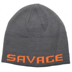 Czapka Savage Gear Logo Beanie - Rock Grey / Orange 73738